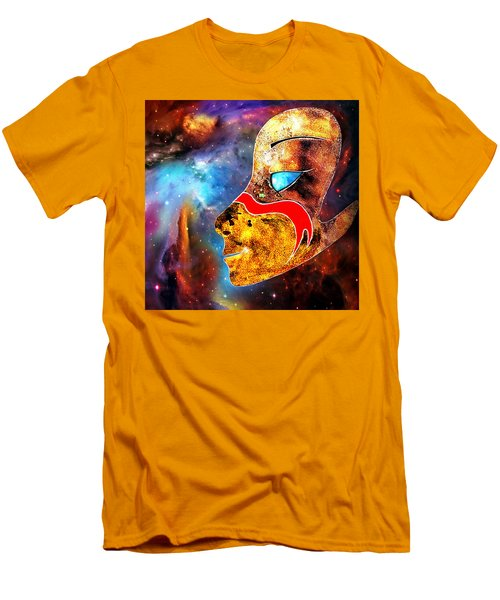 Space  Glory Men's T-Shirt (Slim Fit) by Hartmut Jager