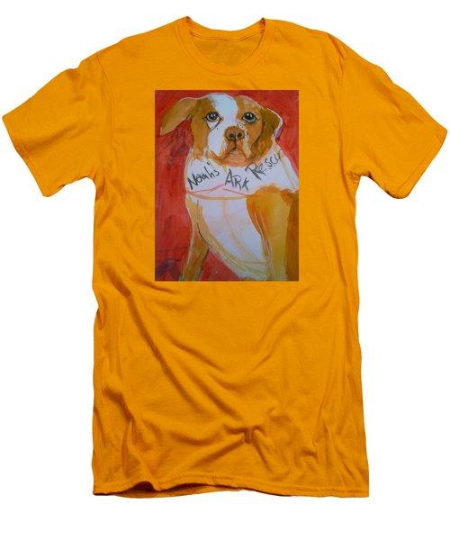 Spencer The Pit Bull Men's T-Shirt (Slim Fit)