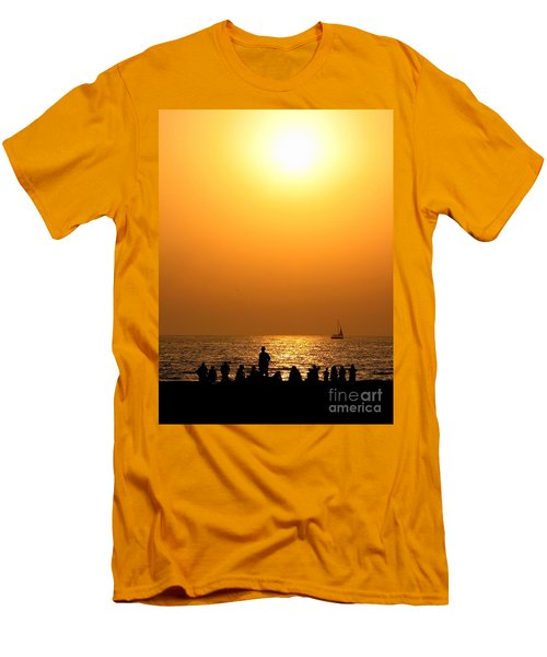 Men's T-Shirt (Slim Fit) featuring the photograph St. Petersburg Sunset by Peggy Hughes