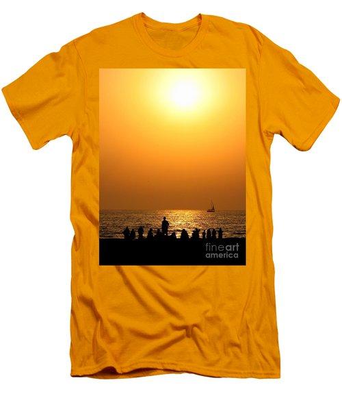St. Petersburg Sunset Men's T-Shirt (Slim Fit) by Peggy Hughes