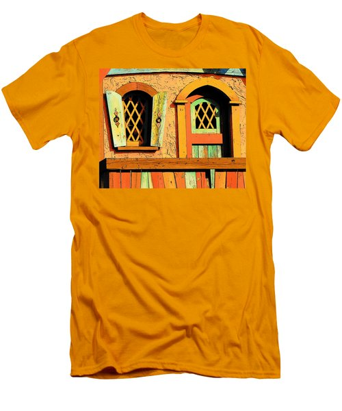 Storybook Window And Door Men's T-Shirt (Slim Fit) by Rodney Lee Williams
