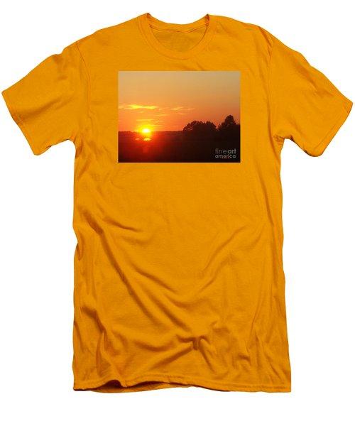 Men's T-Shirt (Slim Fit) featuring the photograph Sundown by Jasna Dragun