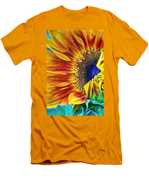 Sunflower Abstract Men's T-Shirt (Athletic Fit)