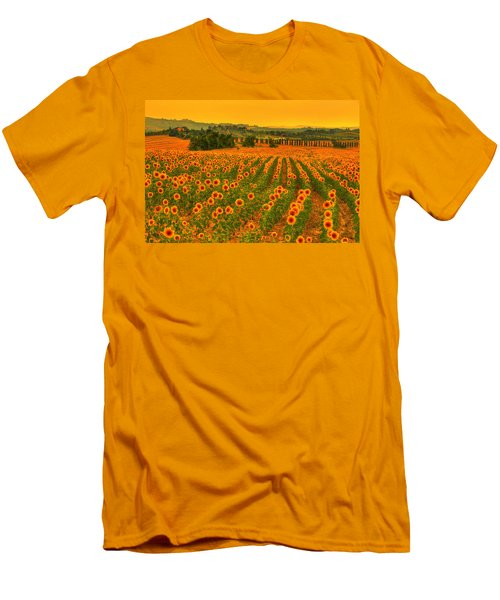 Sunflower Dream Men's T-Shirt (Slim Fit) by Midori Chan
