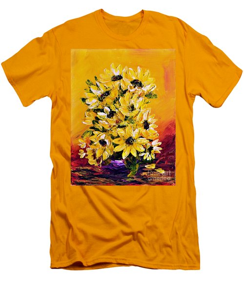 Sunflowers  No.3 Men's T-Shirt (Athletic Fit)