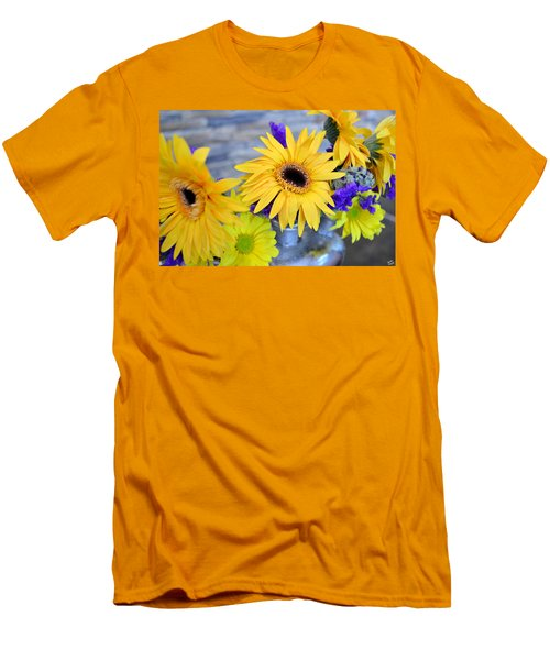 Men's T-Shirt (Slim Fit) featuring the photograph Sunny Days by Ally  White