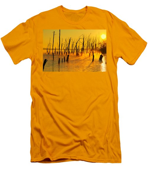 Sunrise Fog Shadows Men's T-Shirt (Athletic Fit)