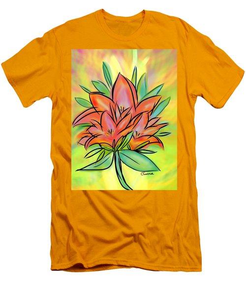 Sunrise Lily Men's T-Shirt (Slim Fit) by Christine Fournier