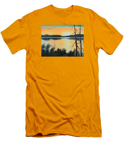 Sunset Men's T-Shirt (Slim Fit) by Remegio Onia