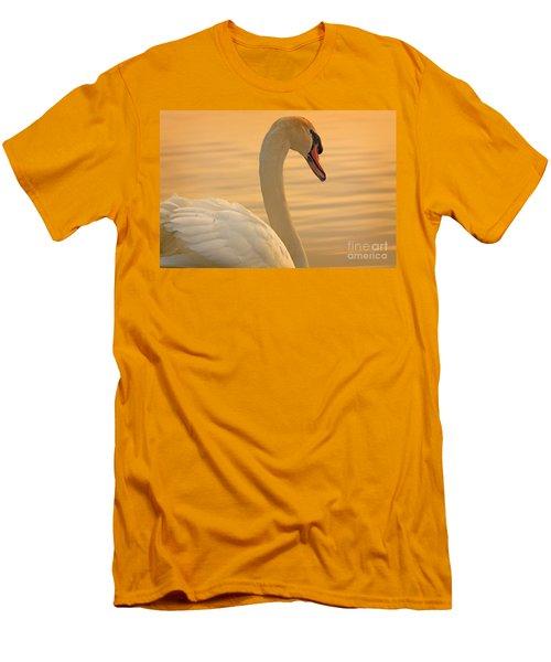 Sunset Swan Men's T-Shirt (Athletic Fit)