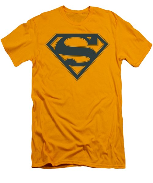 Superman - Navy And Gold Shield Men's T-Shirt (Slim Fit) by Brand A