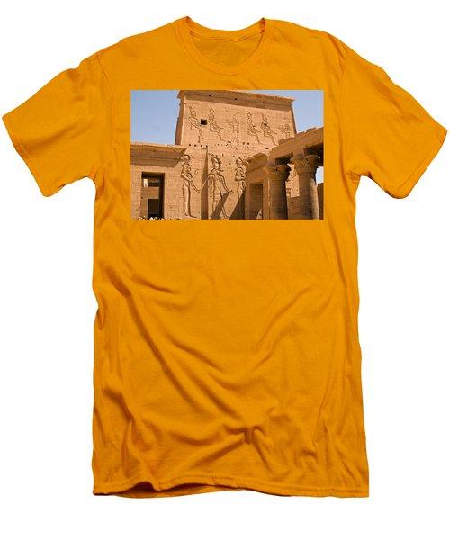 Temple Exterior Men's T-Shirt (Slim Fit) by James Gay