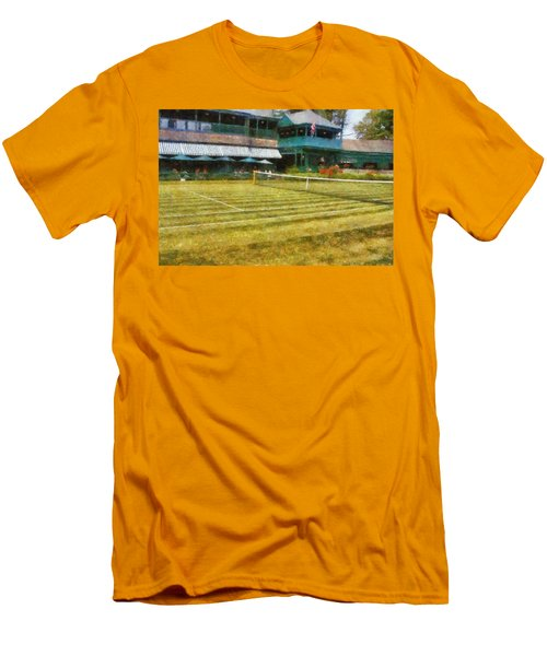 Tennis Hall Of Fame - Newport Rhode Island Men's T-Shirt (Athletic Fit)