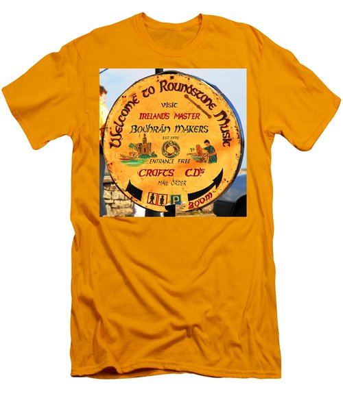 The Bodhran Makers Men's T-Shirt (Slim Fit) by Charlie and Norma Brock