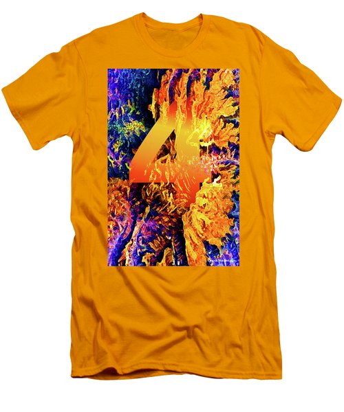 The Four Of Creation Men's T-Shirt (Slim Fit) by Chuck Mountain