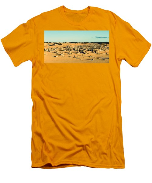 Men's T-Shirt (Slim Fit) featuring the photograph The Pinnacles Australia by Yew Kwang