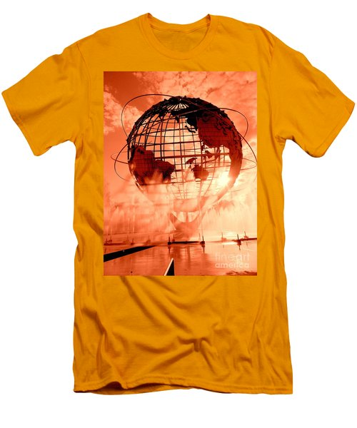 The Unisphere And Fountains Men's T-Shirt (Athletic Fit)