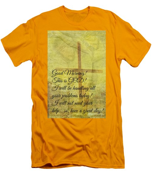 Men's T-Shirt (Slim Fit) featuring the digital art This Is God by Erika Weber