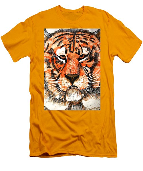Tiger Men's T-Shirt (Slim Fit) by Angela Murray