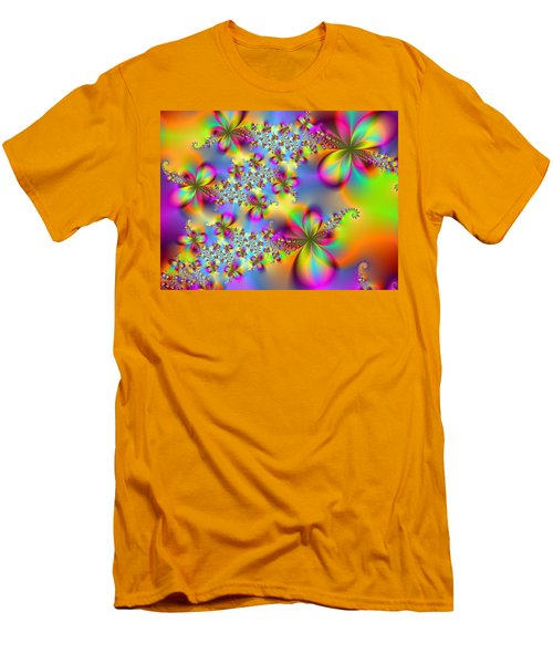 Men's T-Shirt (Slim Fit) featuring the digital art Timeless Elegance by Ester  Rogers