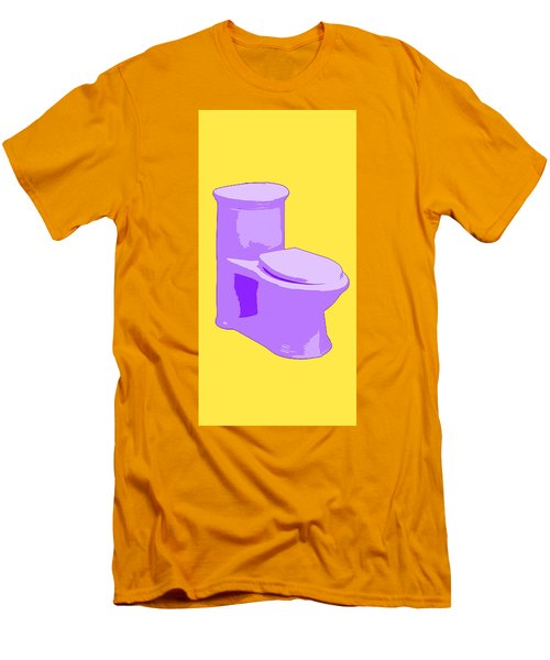 Toilette In Purple Men's T-Shirt (Athletic Fit)