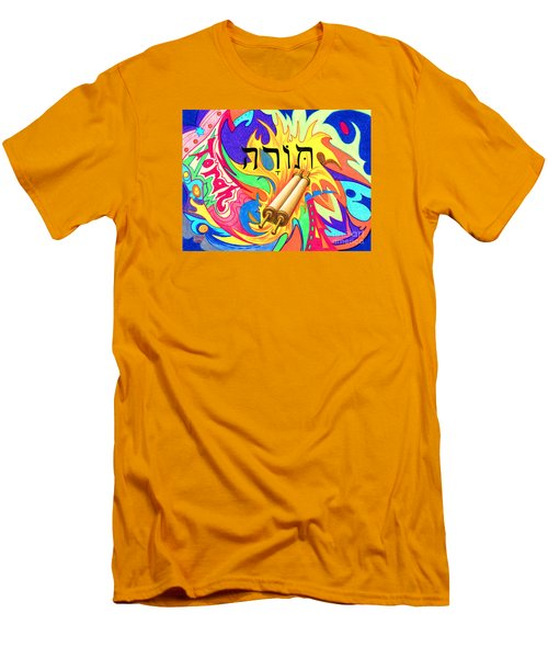 Torah Men's T-Shirt (Slim Fit) by Nancy Cupp