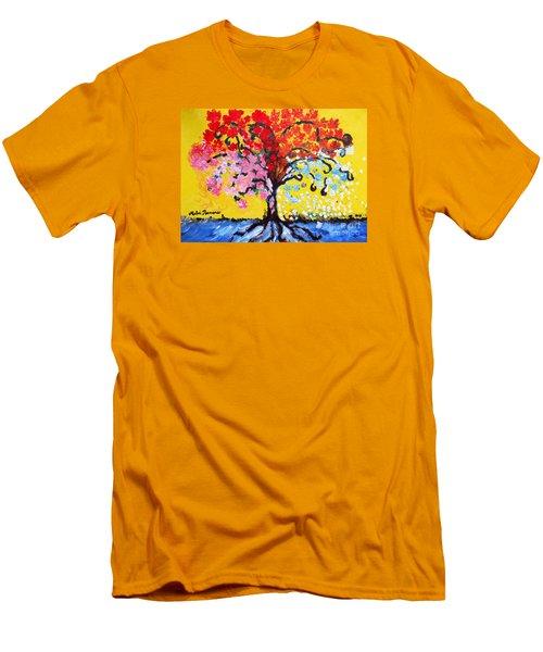Tree Of Life Men's T-Shirt (Slim Fit) by Ramona Matei