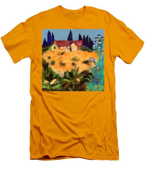 Tropical View Men's T-Shirt (Slim Fit) by Christine Fournier