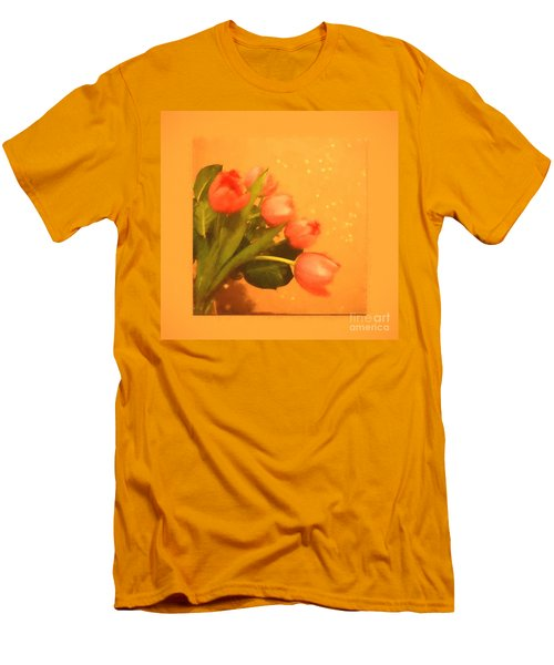 Tulips Duvet Men's T-Shirt (Athletic Fit)