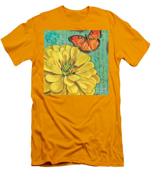 Verdigris Floral 2 Men's T-Shirt (Athletic Fit)