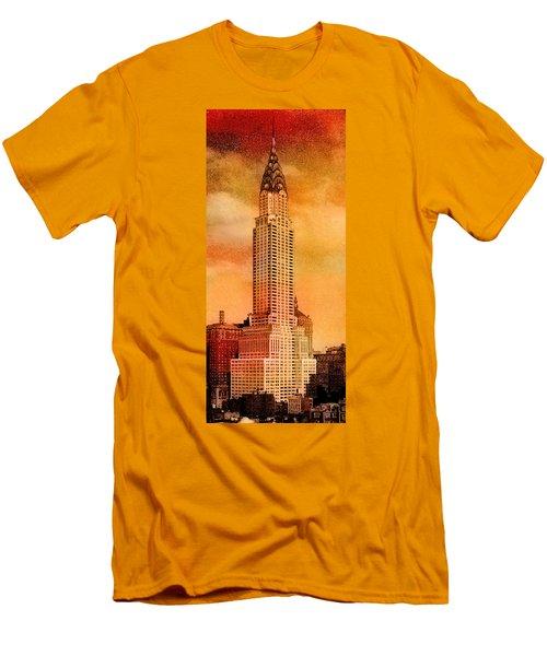 Vintage Chrysler Building Men's T-Shirt (Slim Fit)
