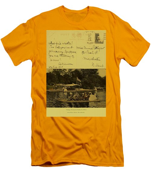 Vintage Postcard  October 10 1910 Men's T-Shirt (Athletic Fit)