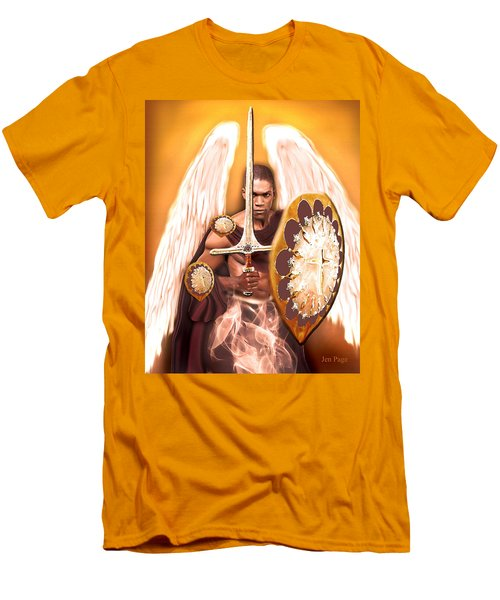 Warrior Angel Men's T-Shirt (Athletic Fit)