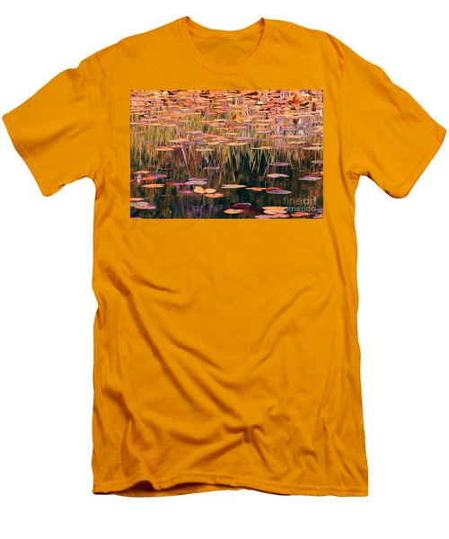 Men's T-Shirt (Slim Fit) featuring the photograph Water Lilies Re Do by Chris Anderson