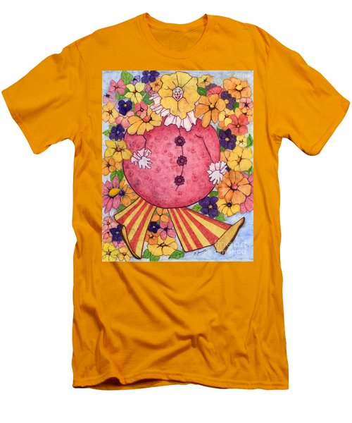 Whimsy On Parade  Men's T-Shirt (Slim Fit) by Barbara Jewell