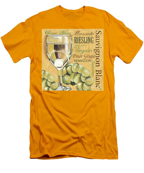White Wine Text Men's T-Shirt (Athletic Fit)