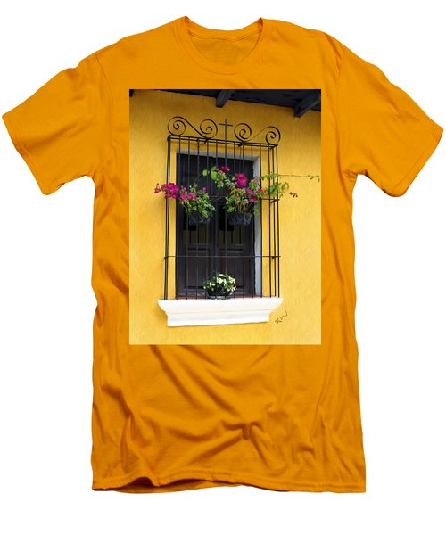 Window At Old Antigua Guatemala Men's T-Shirt (Athletic Fit)