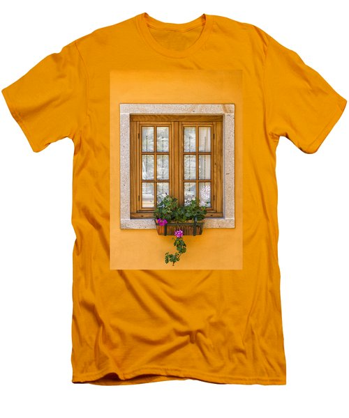 Window With Flowers Men's T-Shirt (Athletic Fit)