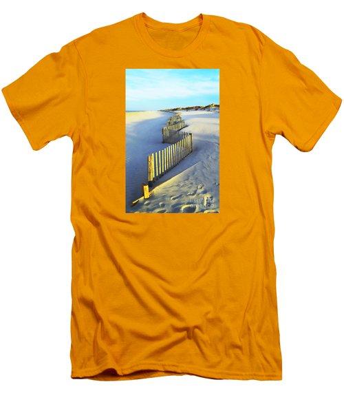 Windswept At Sunset - Jersey Shore Men's T-Shirt (Slim Fit) by Joseph J Stevens