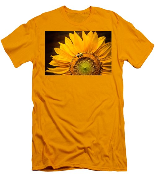 Yellow And Black Men's T-Shirt (Slim Fit) by Sara Frank