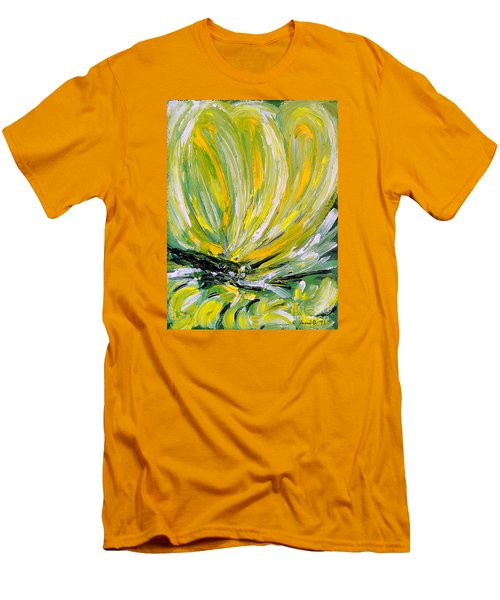 Yellow Butterfly Men's T-Shirt (Slim Fit) by Jasna Dragun