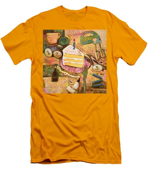 Yellow Cake Recipe Men's T-Shirt (Athletic Fit)