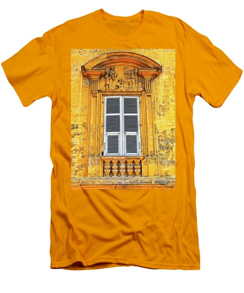 Men's T-Shirt (Slim Fit) featuring the photograph Yellow Window Nice France by Dave Mills