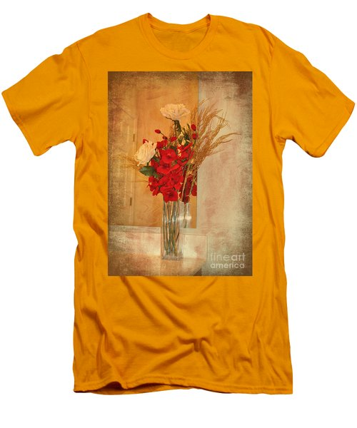 Men's T-Shirt (Slim Fit) featuring the photograph A Rose By Any Other Name by Kathy Baccari