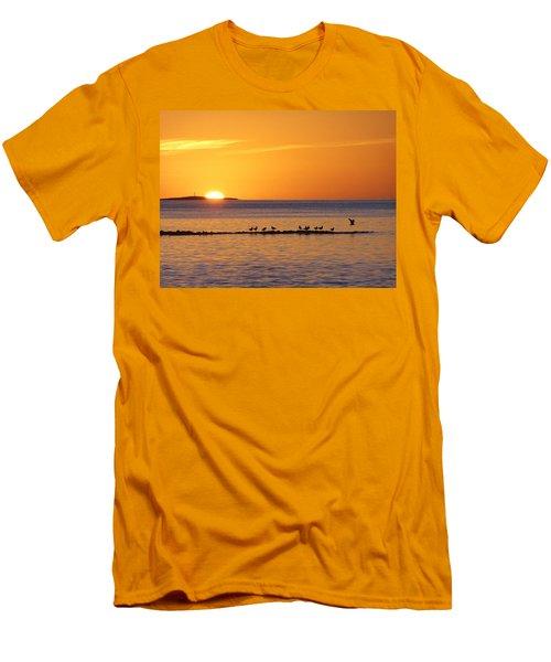 Agua Verde Sunrise Men's T-Shirt (Slim Fit) by Anne Mott
