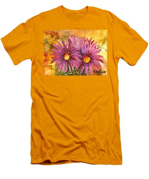 Men's T-Shirt (Slim Fit) featuring the painting Arizona Pincushion  by Eric Samuelson
