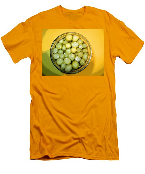 Asparagus In A Jar Men's T-Shirt (Slim Fit) by Kym Backland