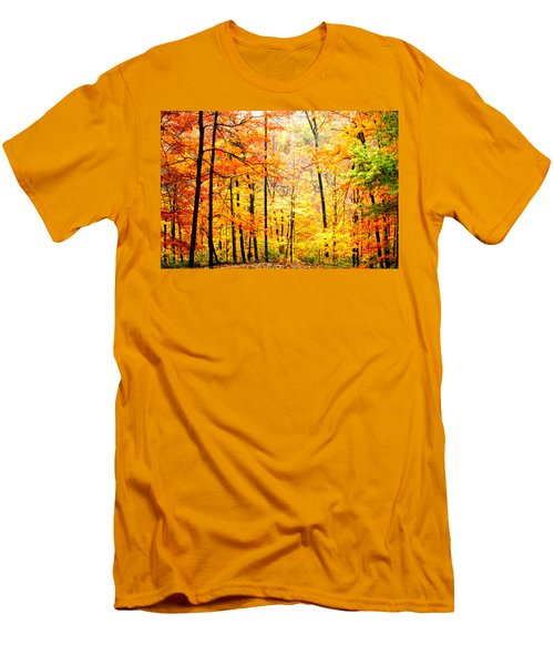Men's T-Shirt (Slim Fit) featuring the photograph Autumn Forest by Randall Branham