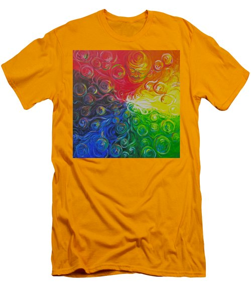 Birth Of Color Men's T-Shirt (Slim Fit) by Jeanette Jarmon