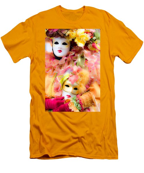 Men's T-Shirt (Slim Fit) featuring the photograph Carnival Mask by Luciano Mortula